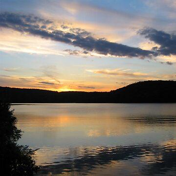 Such A Beautiful Sunset - Monksville Reservoir by amberwayne52