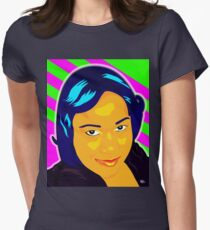 Vee's Pop Art: Jackie Womens Fitted T-Shirt
