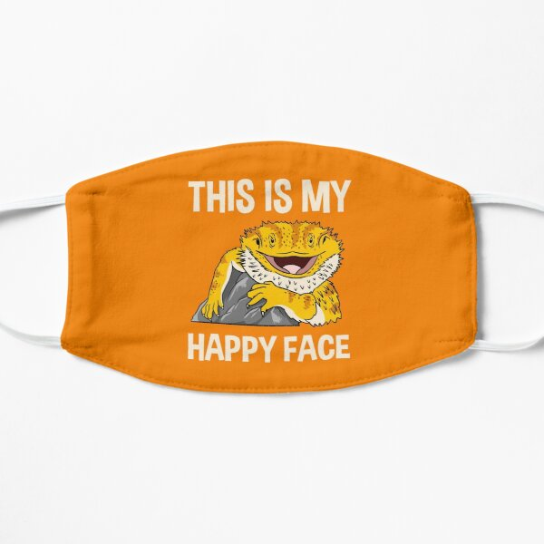 This Is My Happy Face Bearded Dragon Flat Mask