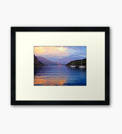 Evening On The Meditteranean Framed Print