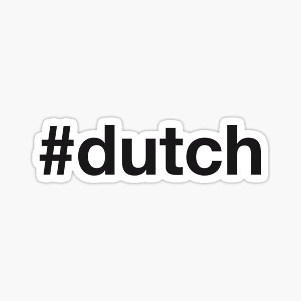 DUTCH Hashtag Sticker