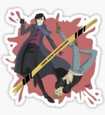 Crime scene investigation round Sticker