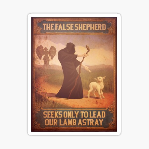 BioShock Infinite – The False Shepherd Seeks Only To Lead Our Lamb Astray Sticker