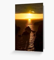 sunset over the wild atlantic way Greeting Card