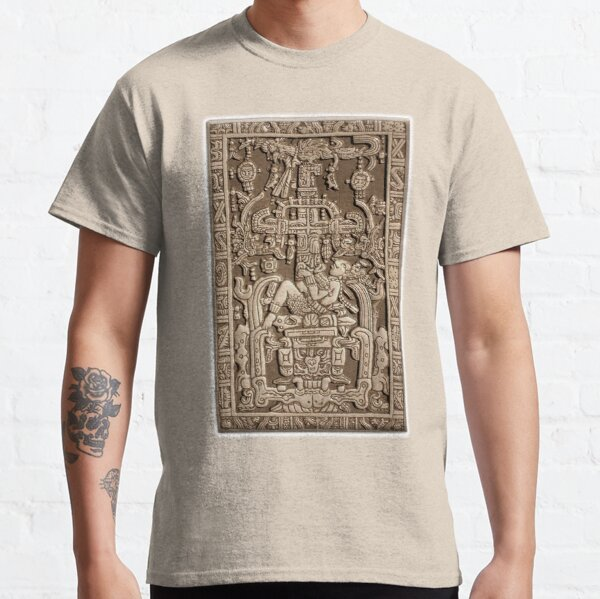 Ancient Astronaut. Pakal, Maya, sarcophagus lid. Classic T-Shirt