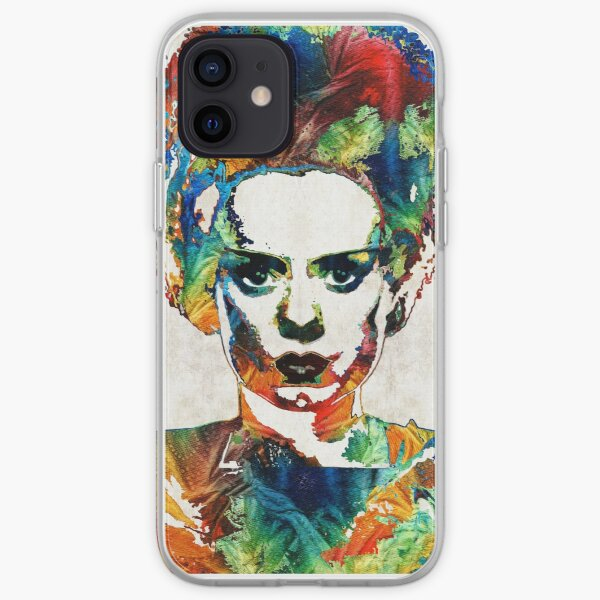 Frankenstein Bride Art - Colorful Monster Bride - By Sharon Cummings iPhone Soft Case