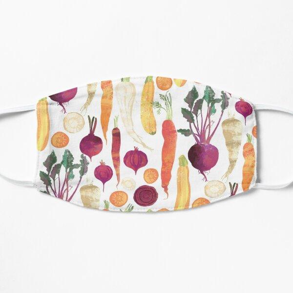 Autumn Vegetables Pattern on White background Mask