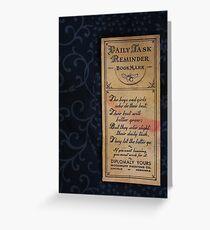 1920s Bookmark Greeting Card