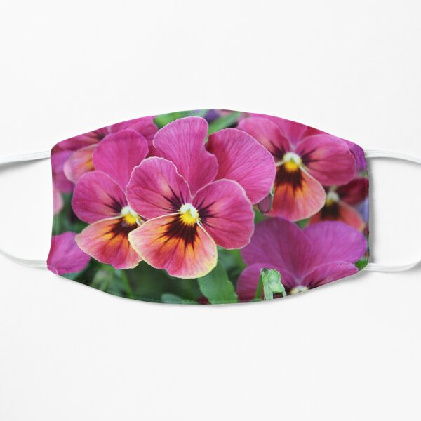 European Garden - Pink Pansy Small Mask