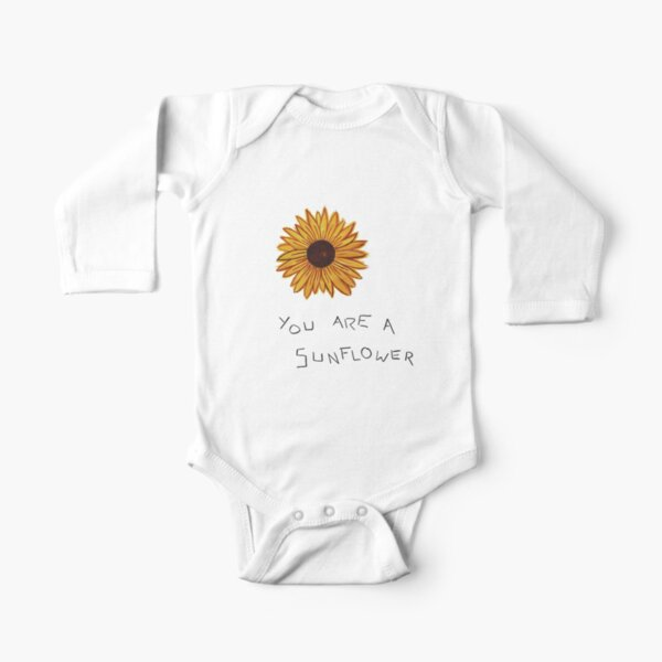 you are a sunflower Long Sleeve Baby One-Piece