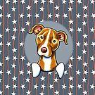 Stars & Stripes American Pit Bull Terrier by offleashart