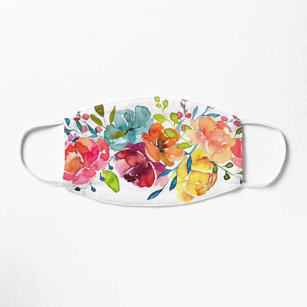 Bright Flowers Summer Watercolor Peonies Mask