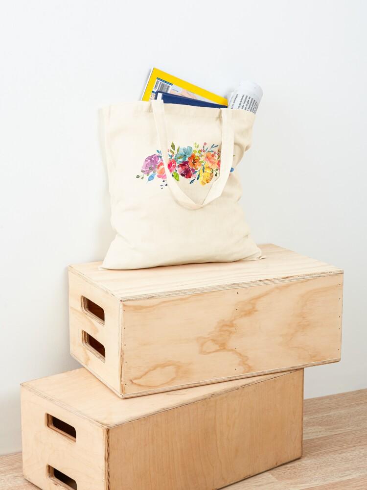 Alternate view of Bright Flowers Summer Watercolor Peonies Tote Bag