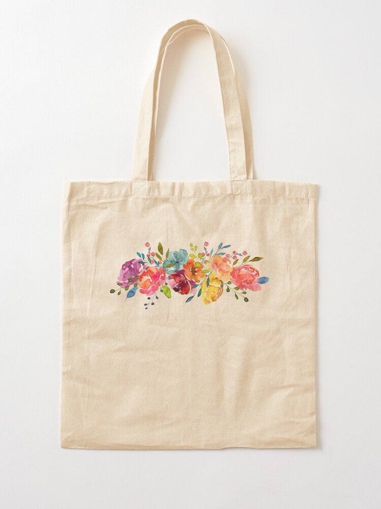 Alternate view of Bright Flowers Summer Watercolor Peonies Tote Bag