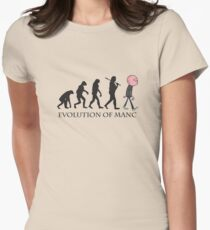 Evolution Of Manc Womens Fitted T-Shirt