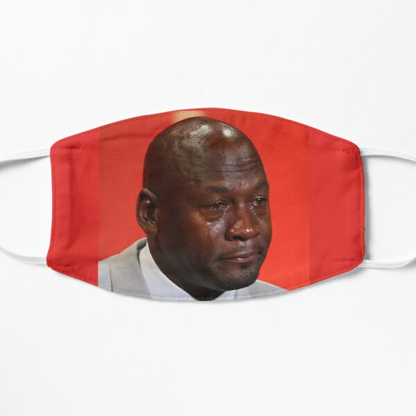 Crying Jordan Flat Mask