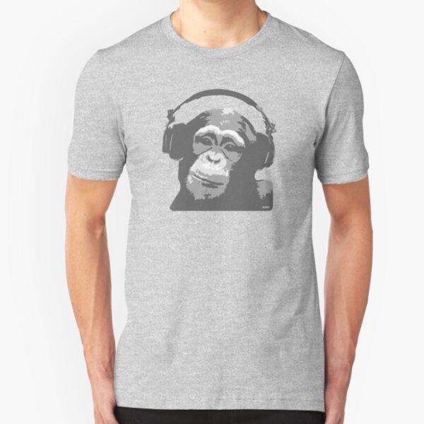 DJ MONKEY Slim Fit T-Shirt