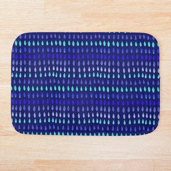 Blue drops on Navy Blue Bath Mat
