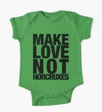 Make Love Not Horcruxes (NOW AVAILABLE IN WHITE) One Piece - Short Sleeve