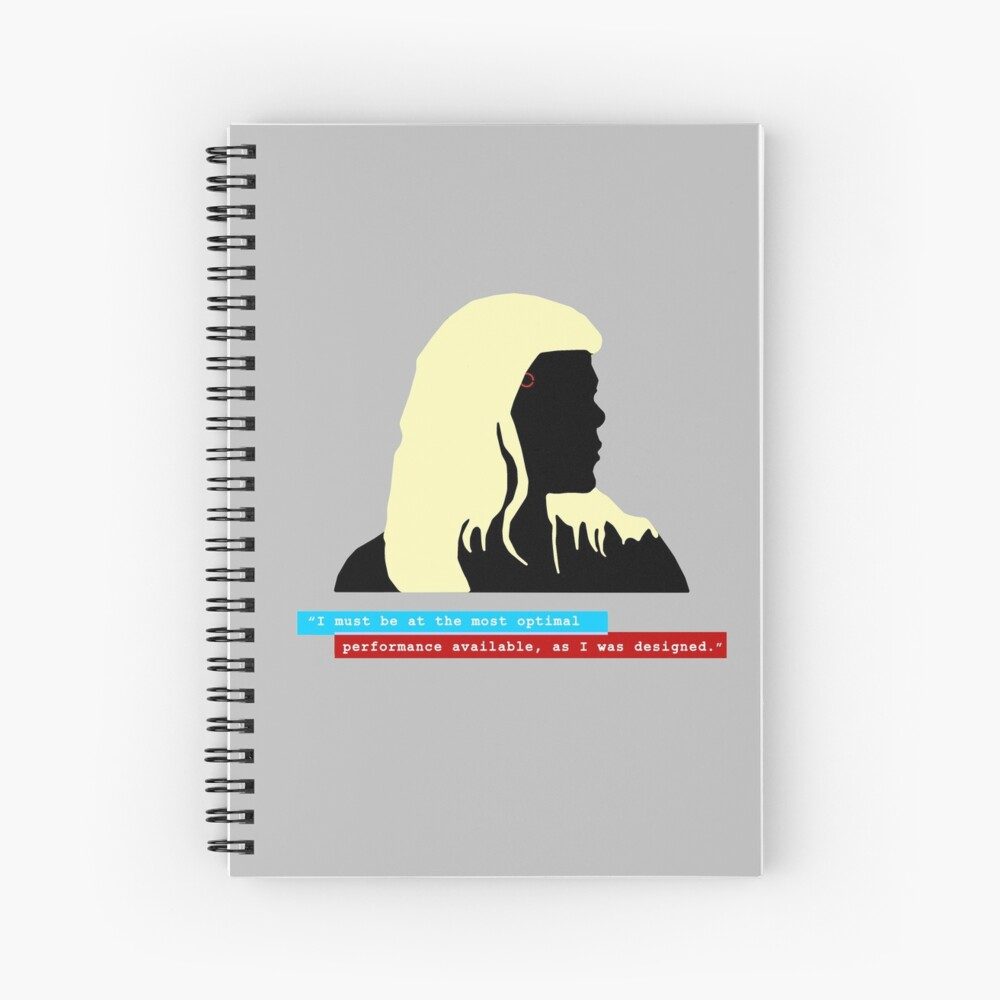 """Ada - Detroit Evolution - """"I must be at the most optimal performance""""  Spiral Notebook"""