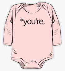 *you're. Grammar Nazi T Shirt! BLACK One Piece - Long Sleeve