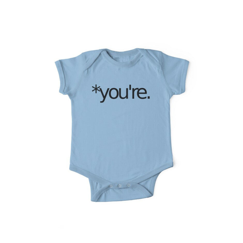 *you're. Grammar Nazi T Shirt! BLACK by loveaj
