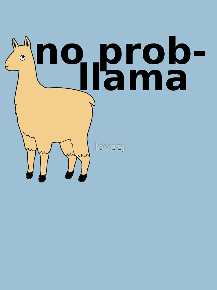 TShirtGifter presents: No Prob-Llama | Unisex T-Shirt