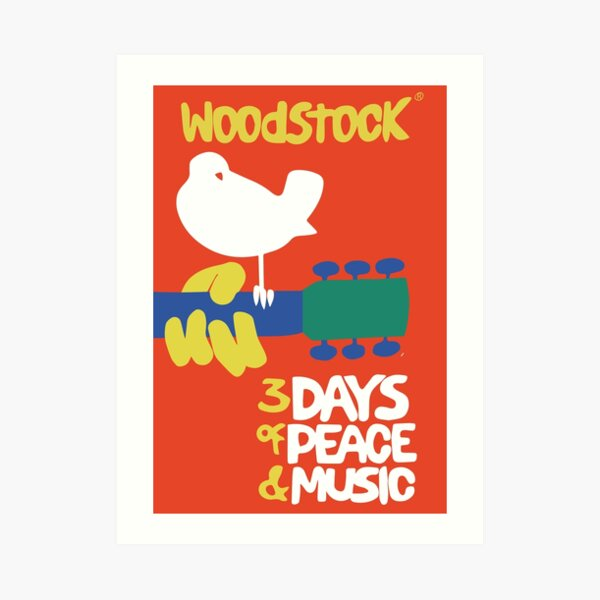 Woodstock 1969 Art Print
