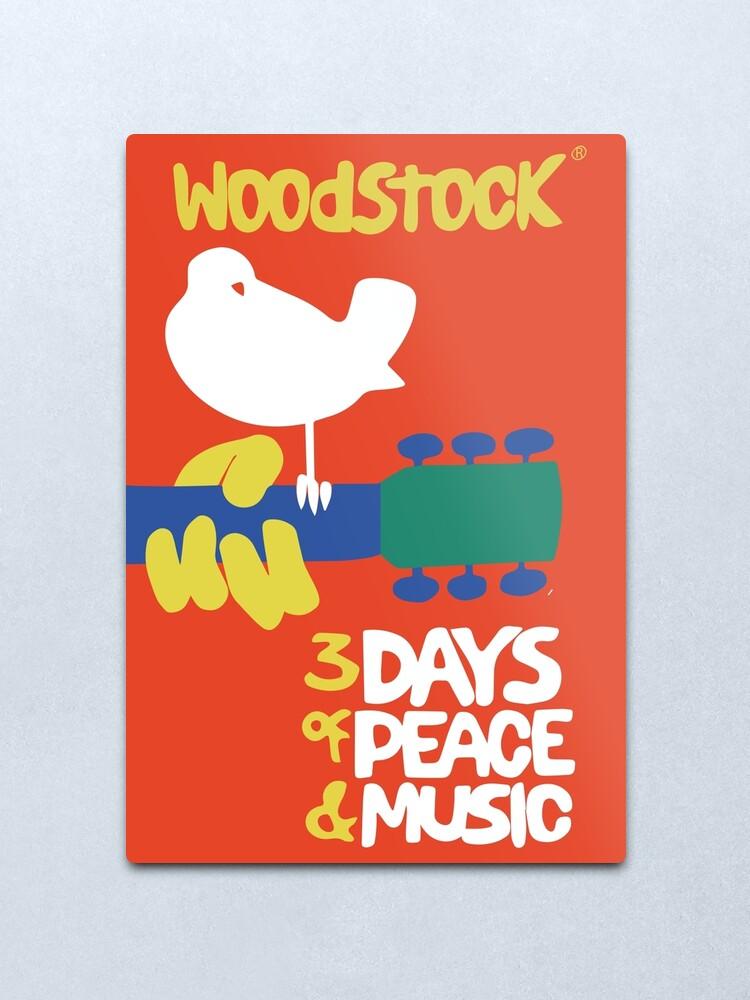 Alternate view of Woodstock 1969 Metal Print