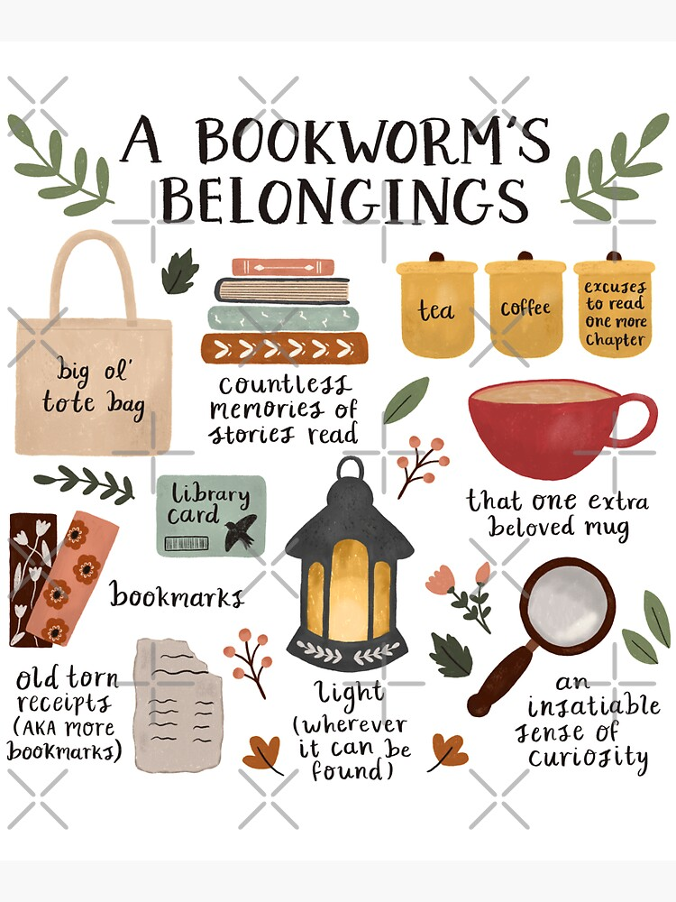 A Bookworm's Belongings by ohjessmarie