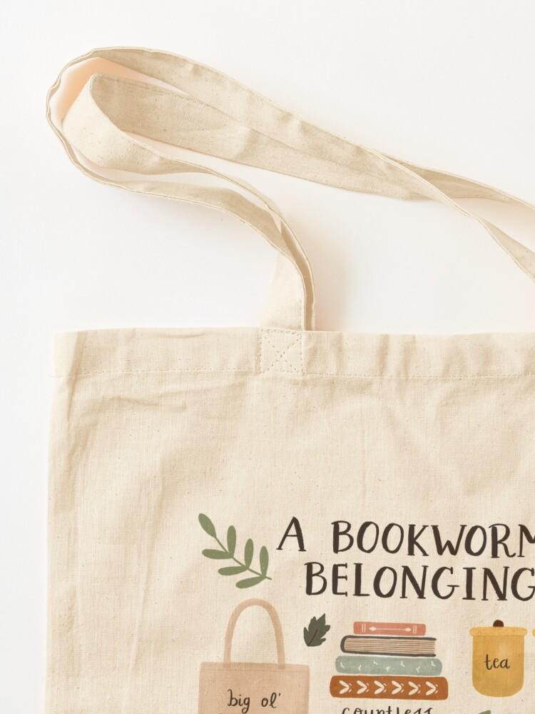Alternate view of A Bookworm's Belongings Tote Bag