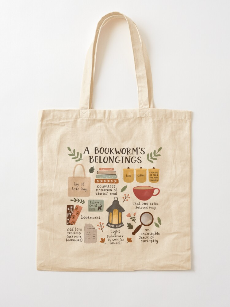 Alternate view of A Bookworm's Belongings Tote Bag