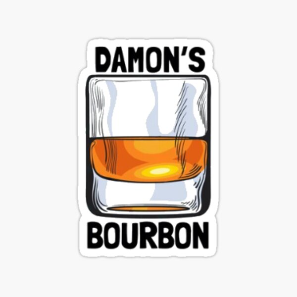 Damon Bourbon The Vampire Diaries Pegatina