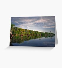 Blue Cypress Lake #3. Greeting Card