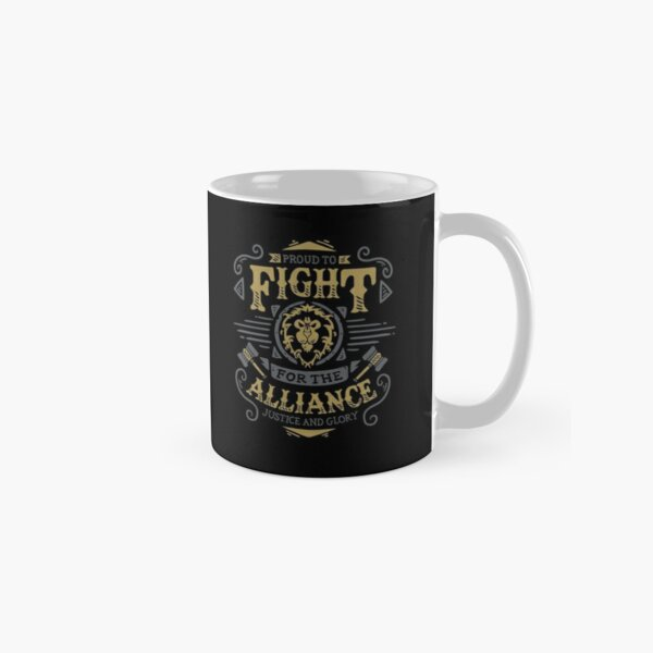 Fight for the Alliance - Gaming Rpg - Vintage art Taza clásica