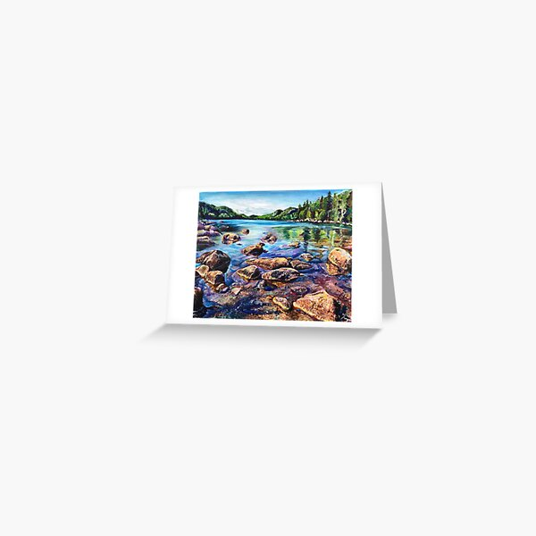 Maine Acadia Painting Landscape Greeting Card