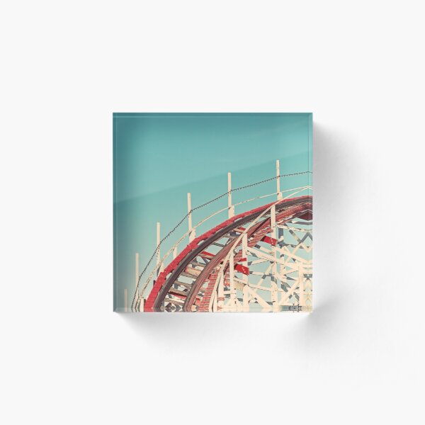 Coast - Roller Coaster Ride Acrylic Block
