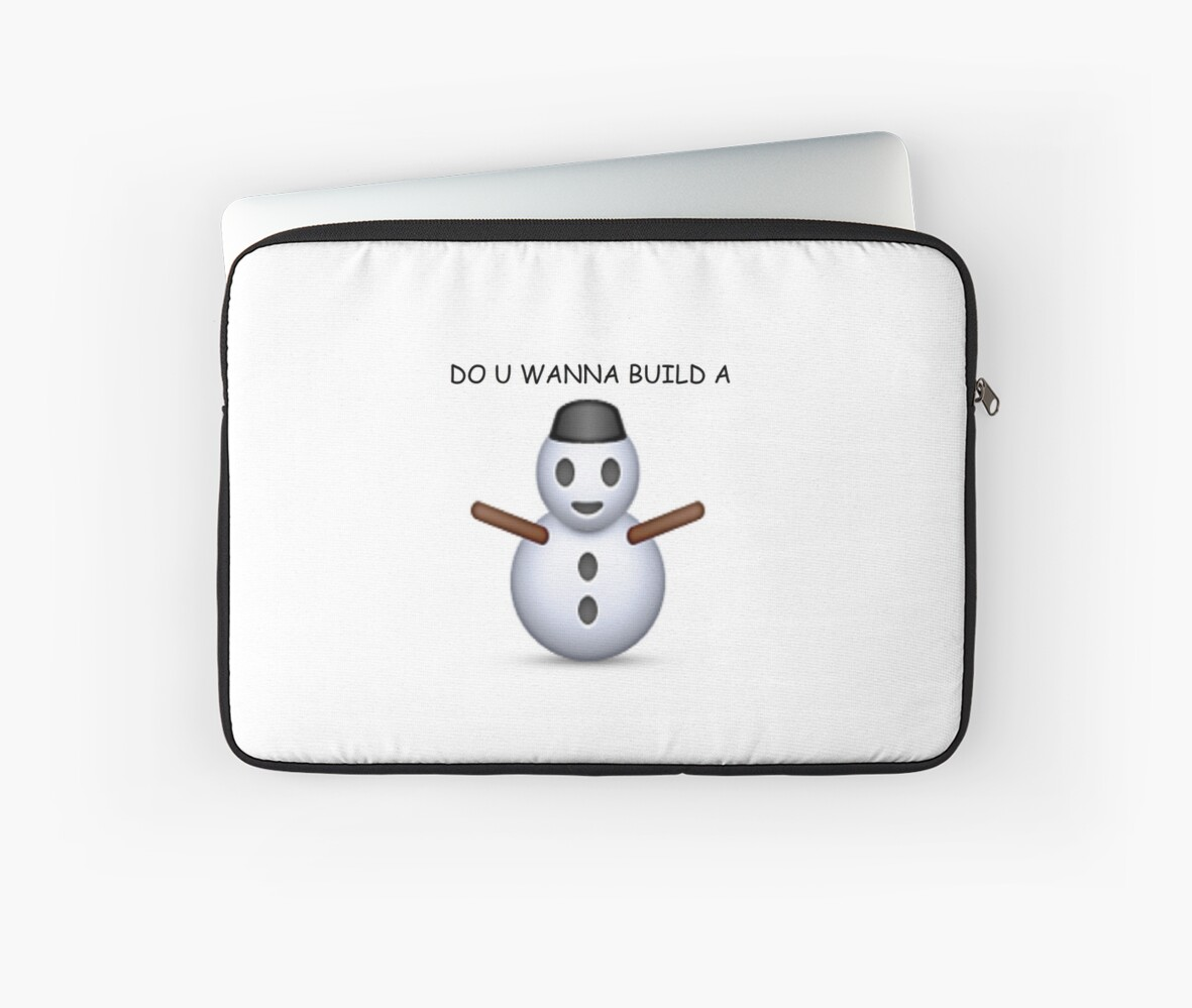 'Do u wanna build a snowman' Emoji - CHRISTMAS by Rad Merch
