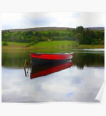 Lough Fern Fishing Boat Poster
