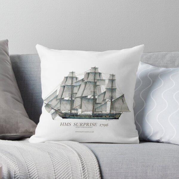 HMS Surprise 1796 Throw Pillow