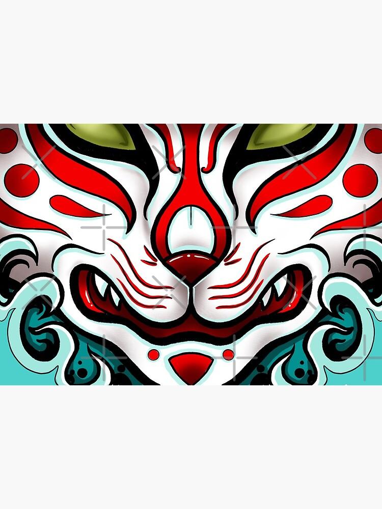 Kitsune Face by korrok