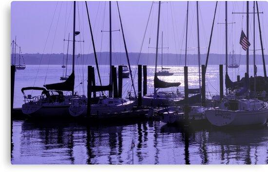 Purple Connecticut Sunrise by Marianne Campolongo