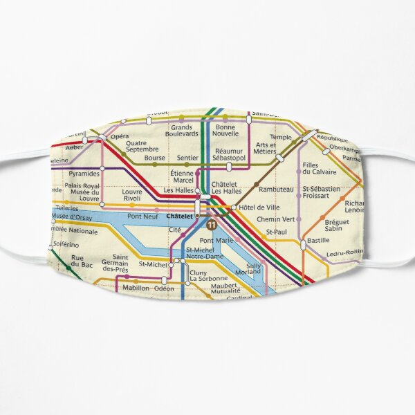 Paris METRO Map Mask