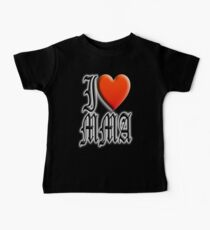 I love, MMA, Mixed, Martial Art, Contest, Combat, Fight, Box, Wrestle, Grapple Kids Clothes