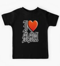 I love, MMA, Mixed, Martial Art, Contest, Combat, Fight, Box, Wrestle, Grapple Kids Tee