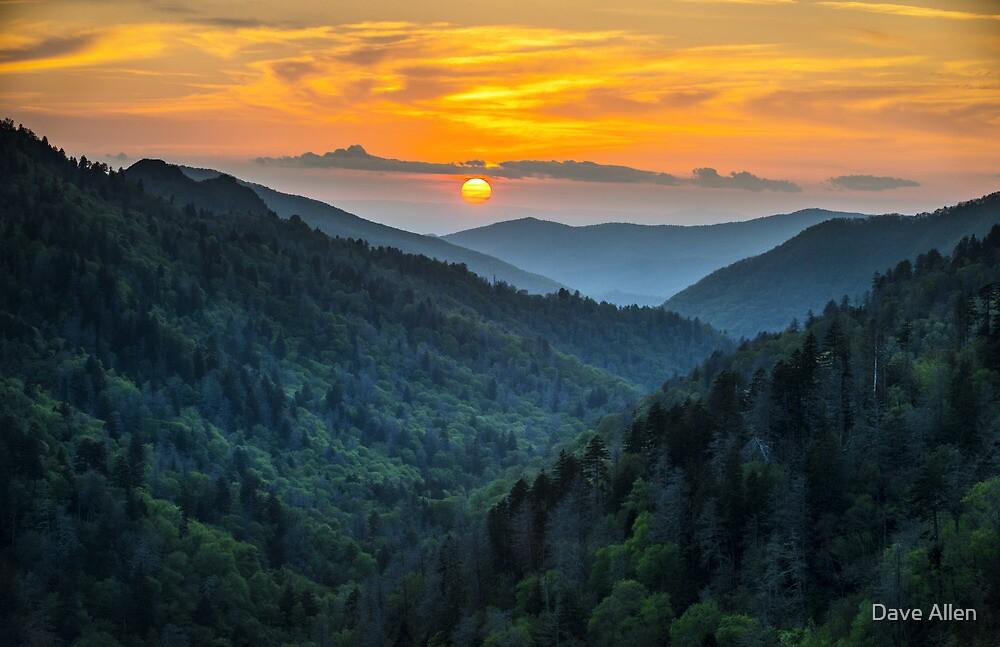 Smoky Mountains Sunset Great Smoky Mountains Gatlinburg TN by Dave Allen