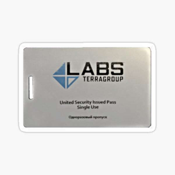 Échapper à la carte-clé Tarkov White Sticker