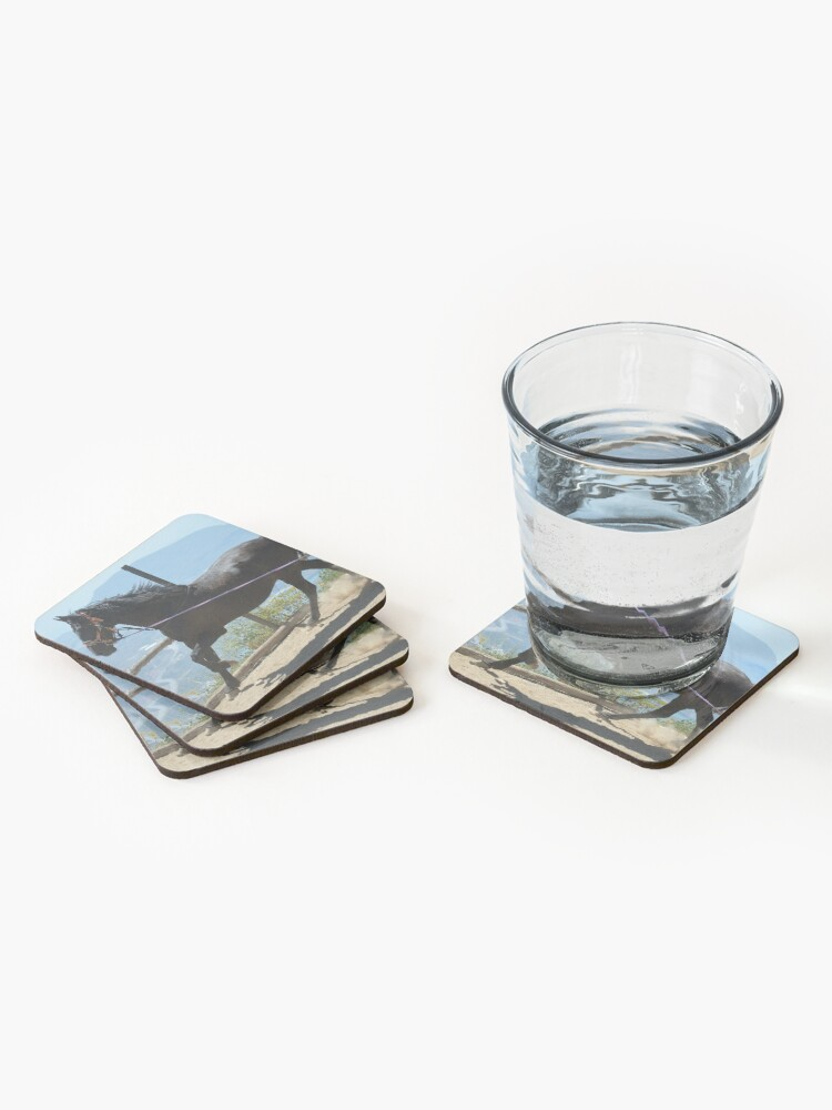 Alternate view of Coco in the corral Coasters (Set of 4)