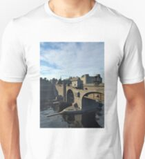 Medieval Bridge and Old Town with Castle T-Shirt