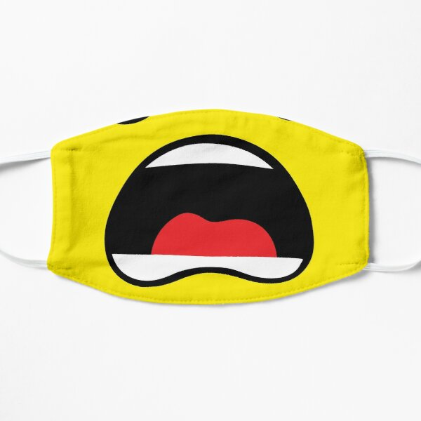 Everything is yellow Flat Mask